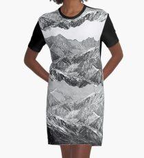 MOUNTAIN MASHUP (MONOCHROME) Graphic T-Shirt Dress