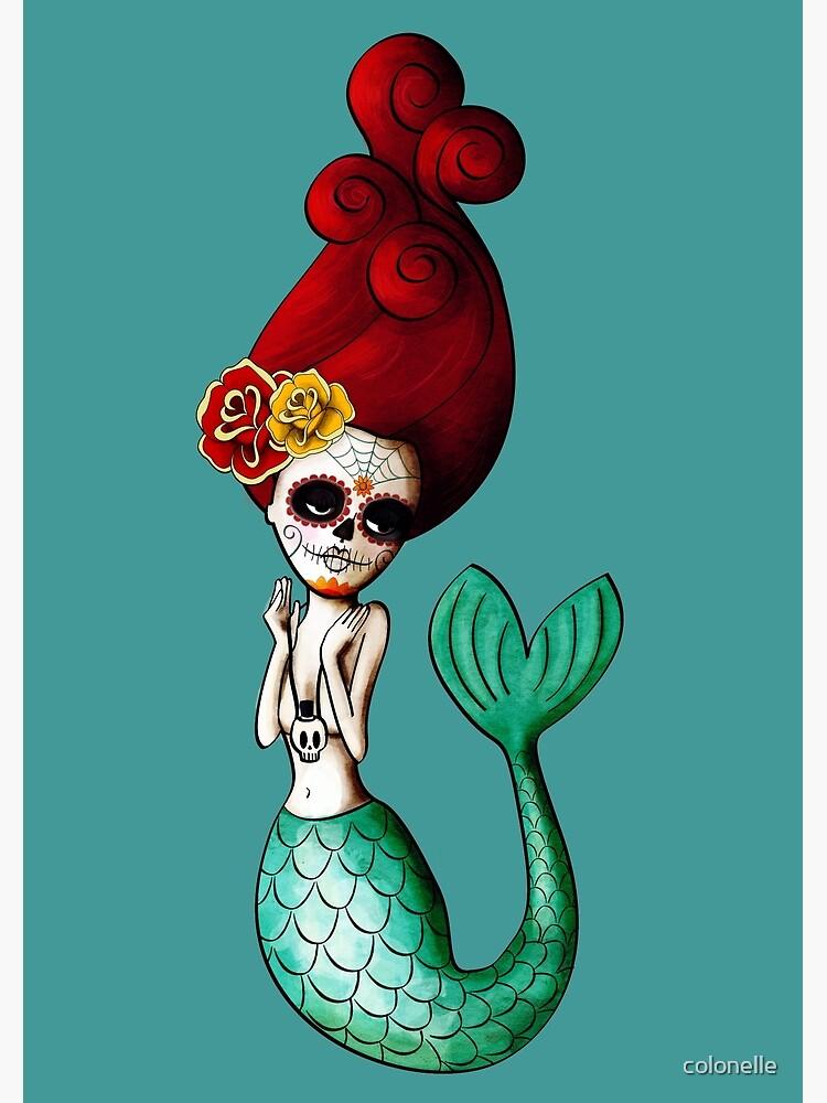 El Dia de Los Muertos Mermaid by colonelle