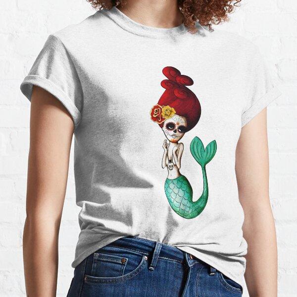 El Dia de Los Muertos Mermaid Classic T-Shirt