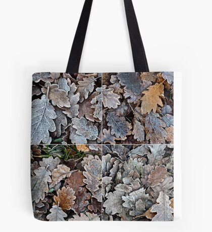 Frozen leaves Tote Bag