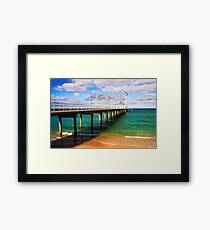 Brighton Jetty landscape Framed Print
