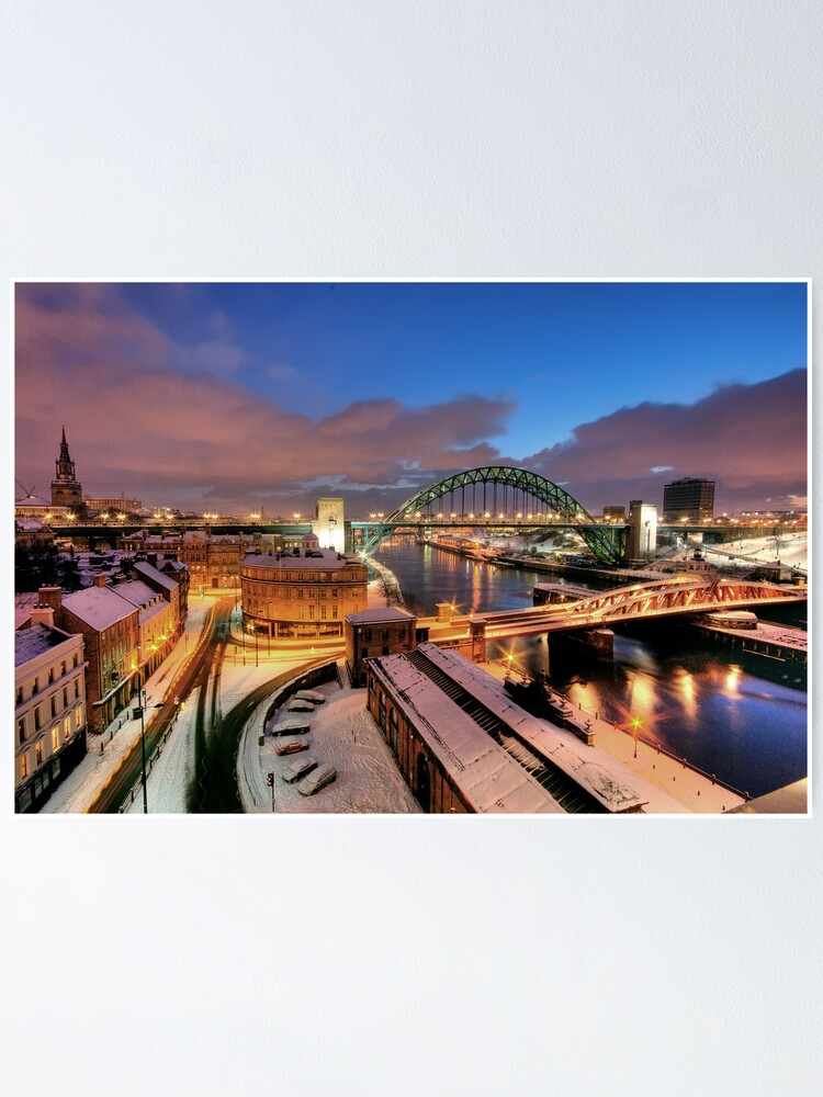 Alternate view of Newcastle in winter Poster