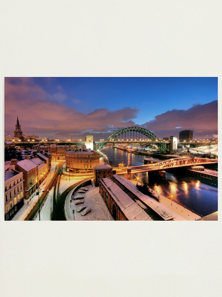 Alternate view of Newcastle in winter Photographic Print