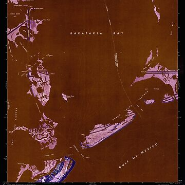 USGS TOPO Map Louisiana LA Barataria Pass 331303 1973 24000 Inverted by wetdryvac
