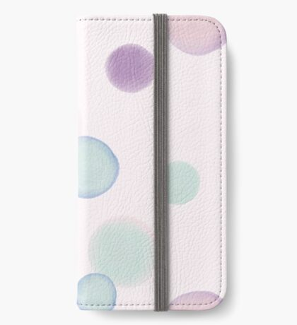 Drops #redbubble #abstractart iPhone Wallet