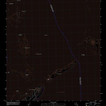 USGS TOPO Map Louisiana LA Barataria Pass 20120416 TM Inverted by wetdryvac