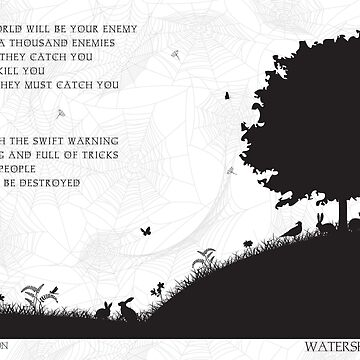 Watership Down Black and White Illustrated Quote by frogmellaink