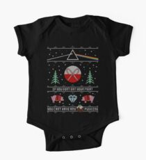 Hey Yule - Pink Christmas Short Sleeve Baby One-Piece