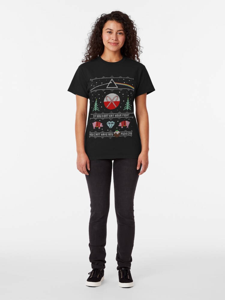 Alternate view of Hey Yule - Pink Christmas Classic T-Shirt
