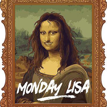 Funny Teacher Shirts Monday Lisa T-Shirt Funny Art Teacher Tee Painter by Cheesybee