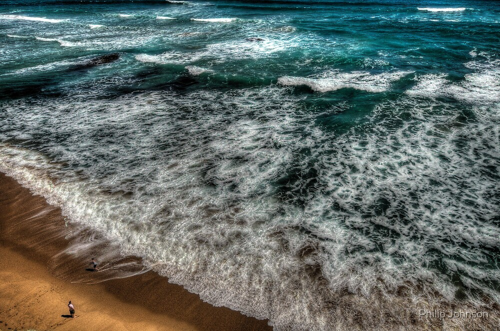 Insignificance - Great Ocean Road - The HDR Experience by Philip Johnson