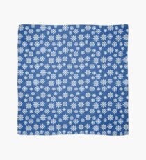 Christmas / Winter White Snowflakes Pattern Blue Scarf