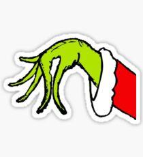 Grinch Christmas Hand Sticker