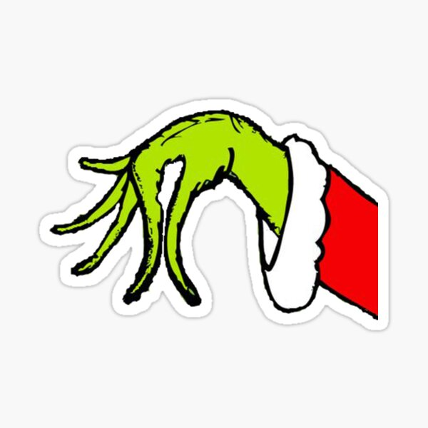 Grinch Christmas Hand Sticker