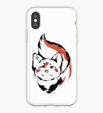 Little kitsune Japanese style inking. iPhone Case