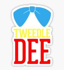 Tweedle Dee and Tweedle Dum Blue Sticker
