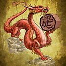 Chinese Zodiac - the Dragon Card by Stephanie Smith