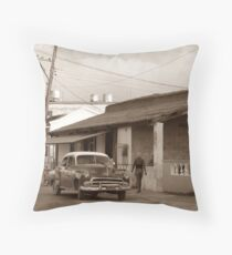 Streetside, Cojimar, Cuba Throw Pillow