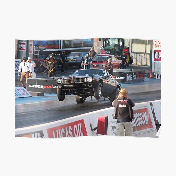 Drag Racing Wheelie Poster