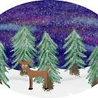 Winter Landscape with Deer by Elina145