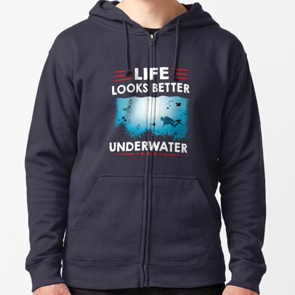 Scuba Diving - Best Gift for Diver Zipped Hoodie