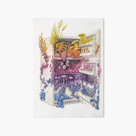 Moldy Fridge - Who Forgot the Hum(m)us? Art Board Print