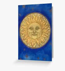 Old Fashioned Sun Greeting Card
