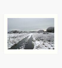 Winter Snow Scene Art Print