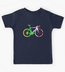 Bike Tour de France Jerseys (Vertical) (Big)  Kids T-Shirt