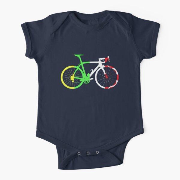 Bike Tour de France Jerseys (Vertical) (Big)  Short Sleeve Baby One-Piece