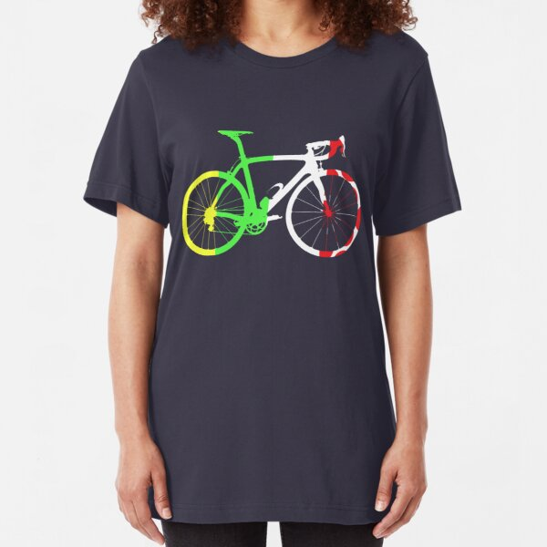 Bike Tour de France Jerseys (Vertical) (Big)  Slim Fit T-Shirt