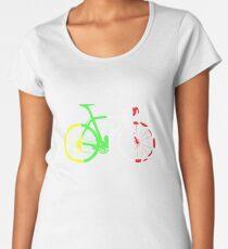 Bike Tour de France Jerseys (Vertical) (Big)  Women's Premium T-Shirt