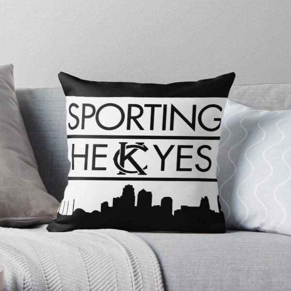 SPORTING HEKCYES (WHITE) Throw Pillow