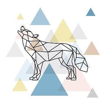 Scandinavian Geometric - Wolf by HausOfAyr