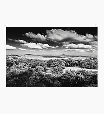 Maleny black and white landscape Photographic Print