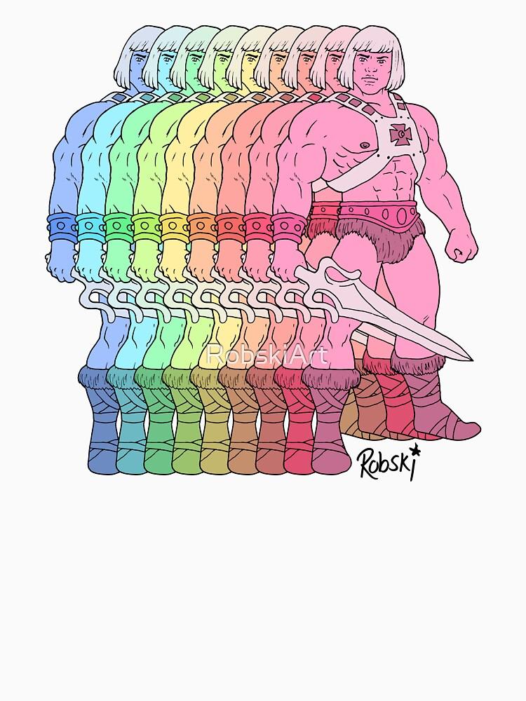 80's Rainbow Heman - I have the power! by RobskiArt