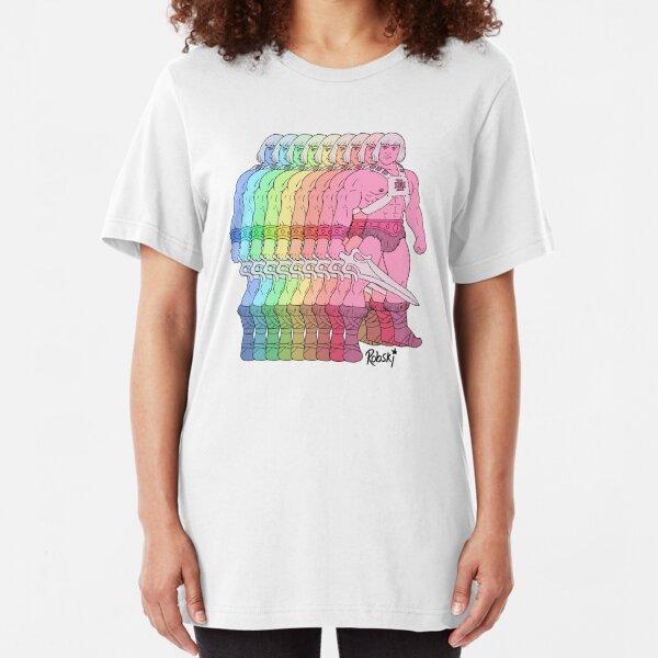 80's Rainbow Heman - I have the power! Slim Fit T-Shirt