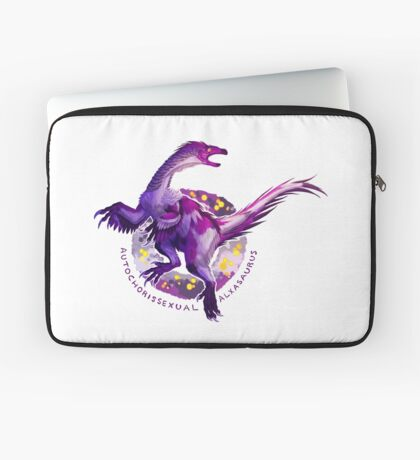 Autochorissexual Alxasaurus (with text)  Laptop Sleeve