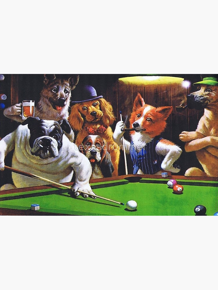 Dogs Playing Pool by texasdrummer
