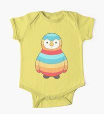 Seltener Pinguin Baby Body Kurzarm