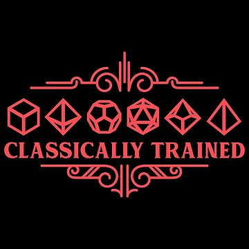 Classically Trained Polyhedral Dice Set Red Tabletop RPG Addict by pixeptional