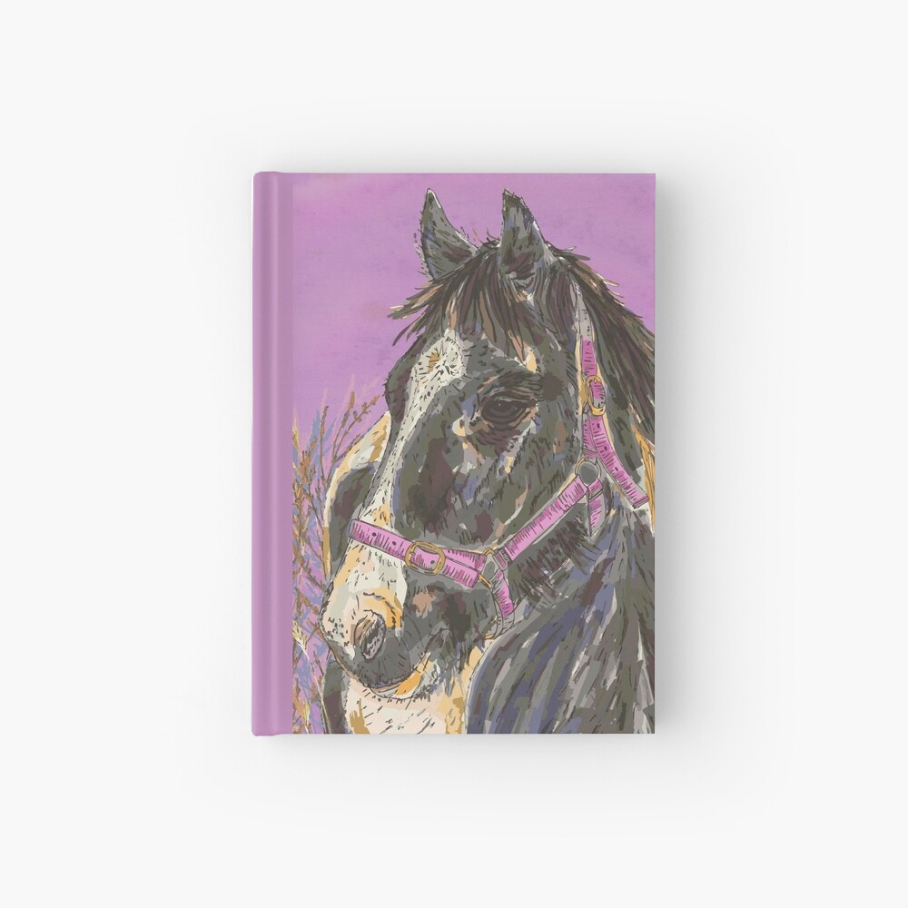 Horse with the Golden Mane Hardcover Journal