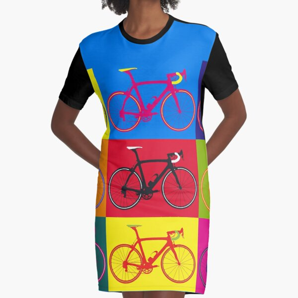 Bike Andy Warhol Pop Art Graphic T-Shirt Dress