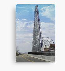 """One Tall Coaster"" Metal Print"