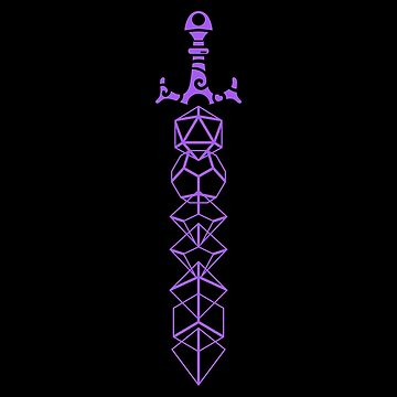 The Polyhedral Dice Collector's Purple Sword by pixeptional