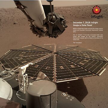 Mars InSight: InSight Images a Solar Panel ⛔ HQ quality by MichailoAvilov