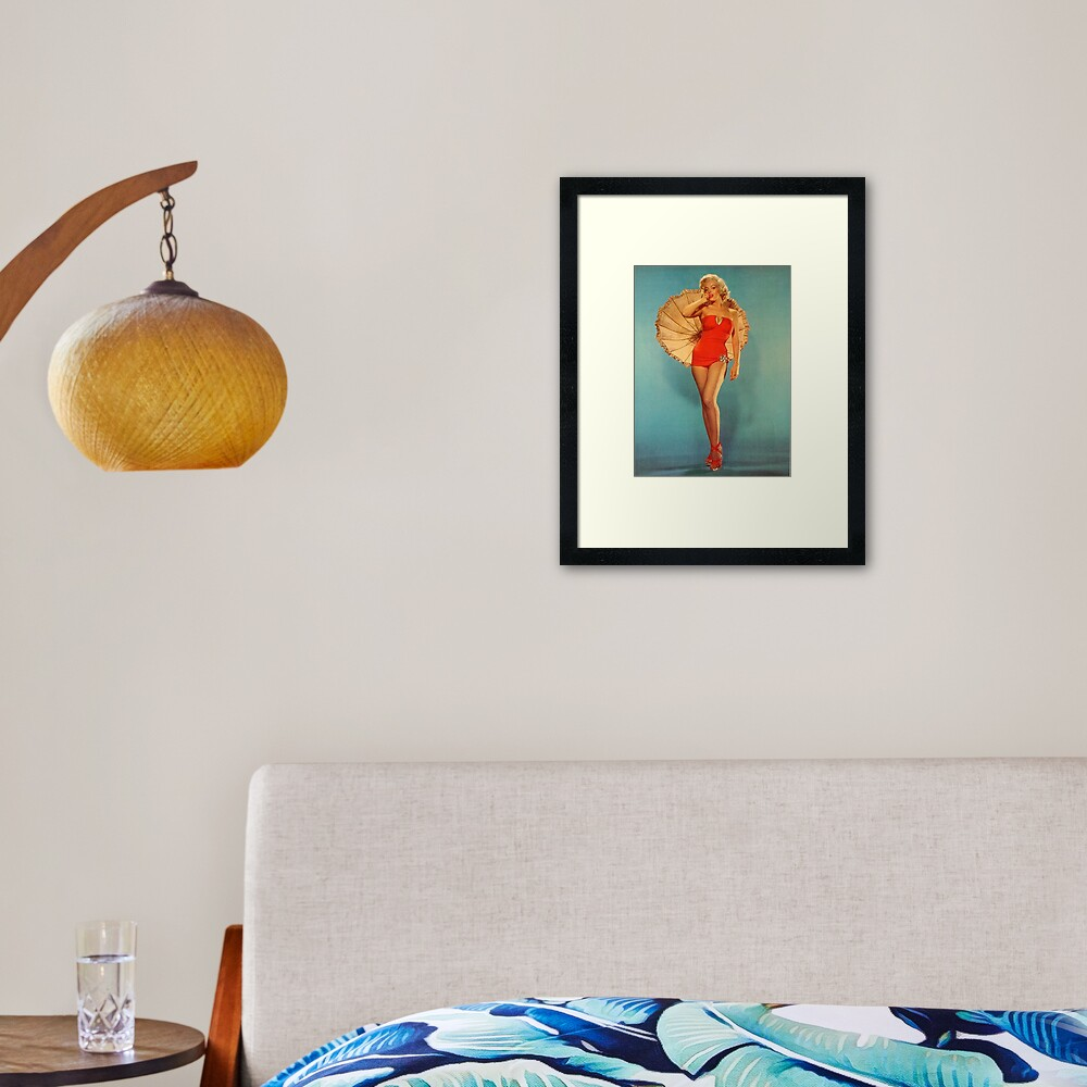 Marilyn with Umbrella Framed Art Print
