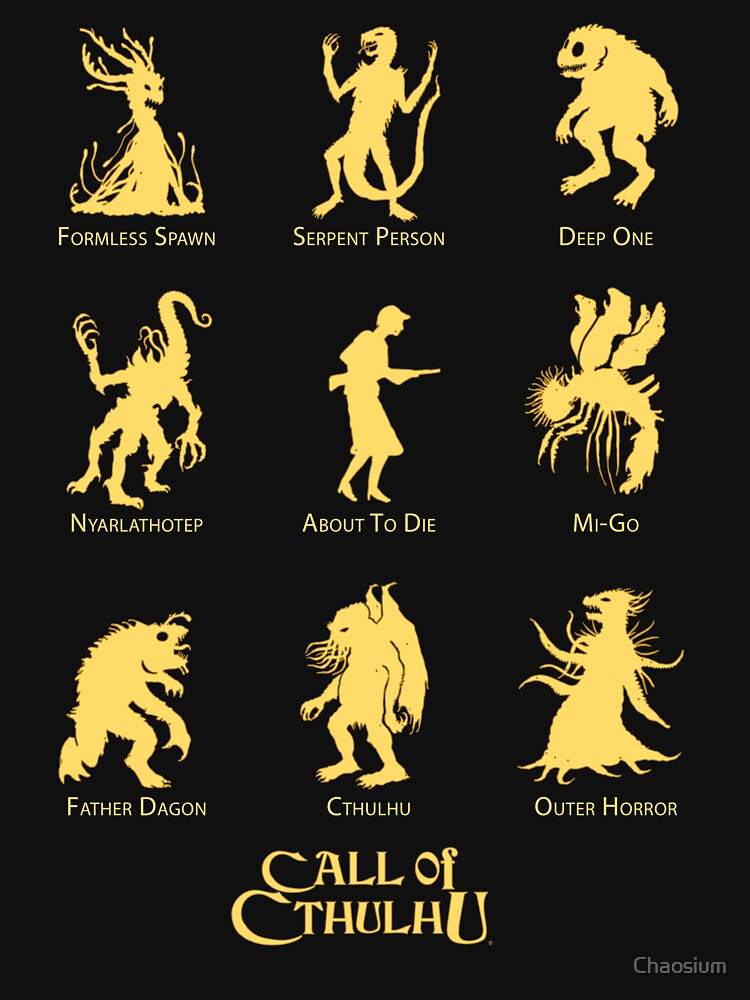 Call of Cthulhu - Know Your Monsters by Chaosium