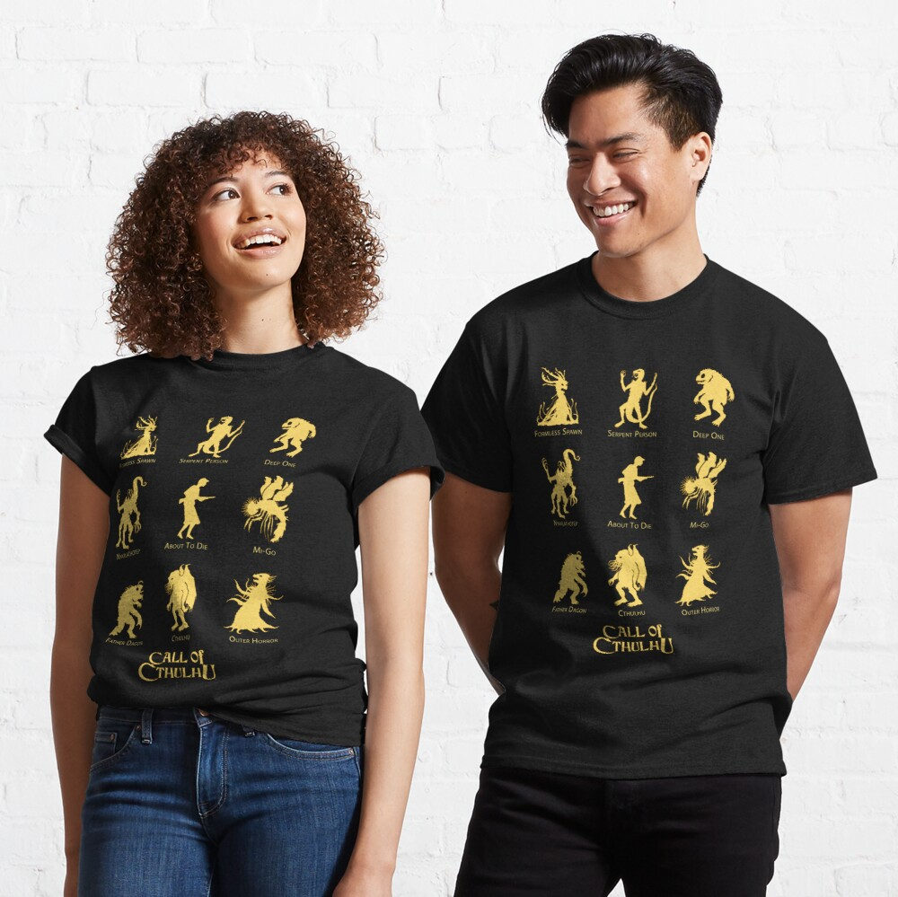 Call of Cthulhu - Know Your Monsters Classic T-Shirt