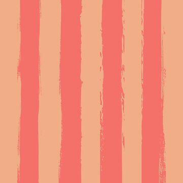 Living Coral Rustic Stripes With Pale Orange by broadmeadow